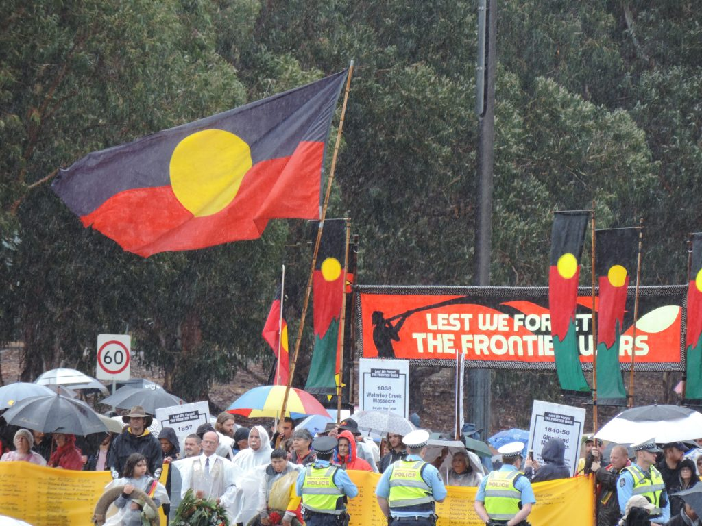 Frontier Wars March, Anzac Day, Canberra 2017